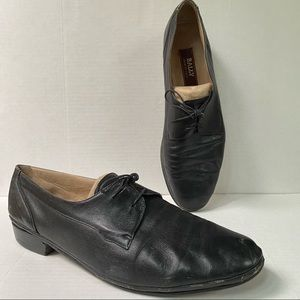 Bally Leather Oxfords Made In Italy